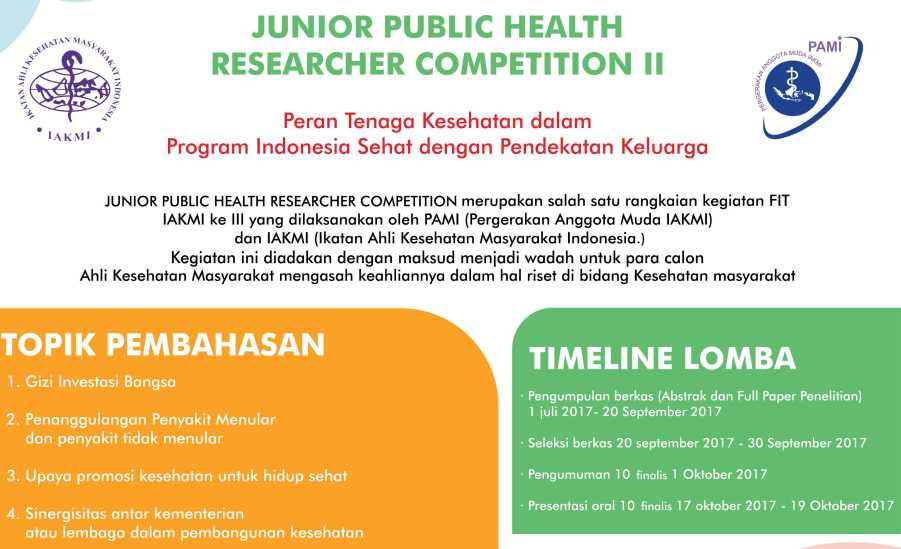 Junior Public Health Researcher Competition ke-2, cover