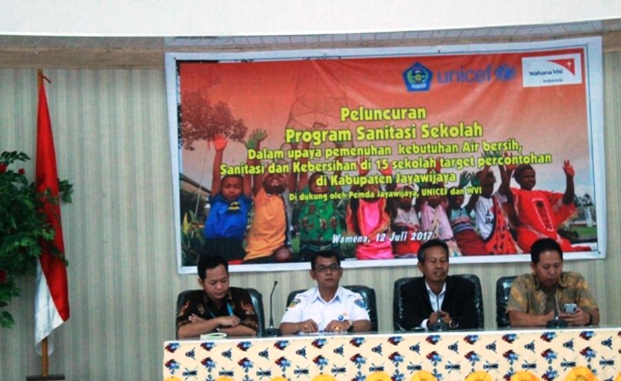 Pemkab Jayawijaya Luncurkan Program Sanitasi Sekolah Bersama WVI dan Unicef