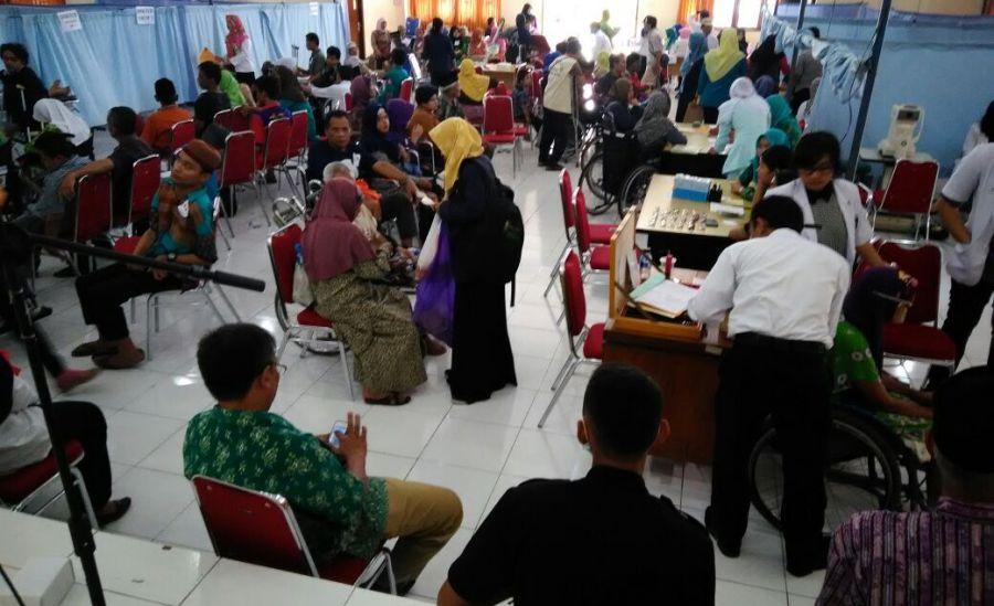 Ratusan Difabel Kabupaten Bantul Mengikuti Jamkesus Terpadu 2017