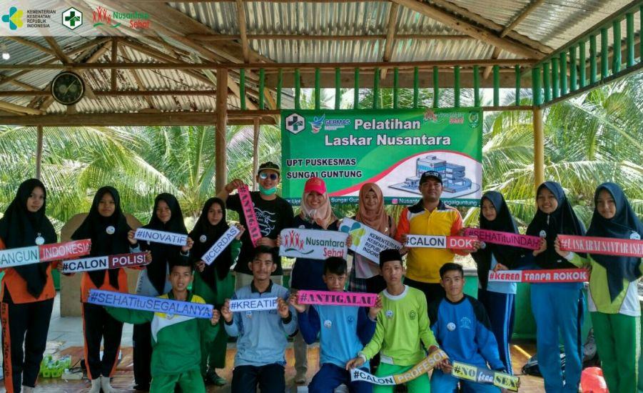 Pelatihan Laskar Nusantara Sehat Sungai Guntung
