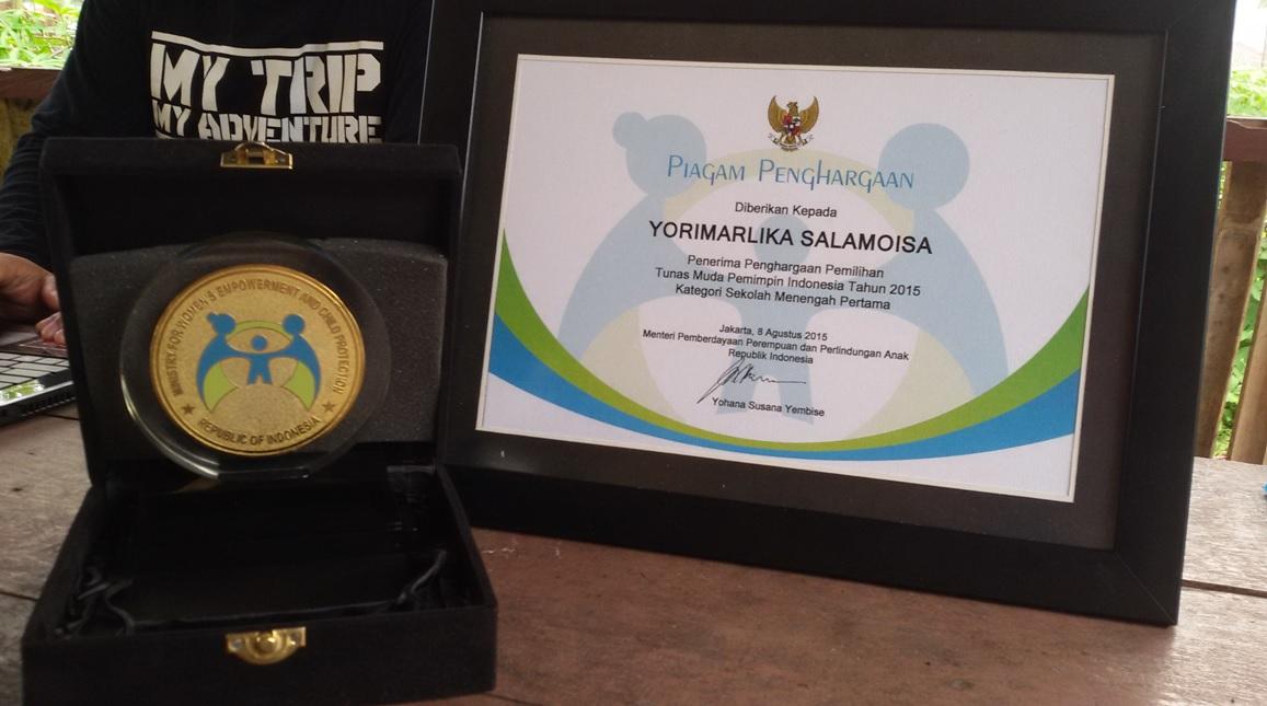 Anugerah Tunas Muda Pemimpin Indonesia Tingkat SMP Tahun 2015
