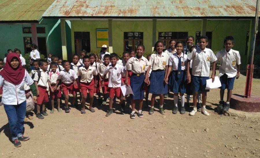Nusantara Sehat Puskesmas Nualain Bentuk Kader Kesehatan Sekolah