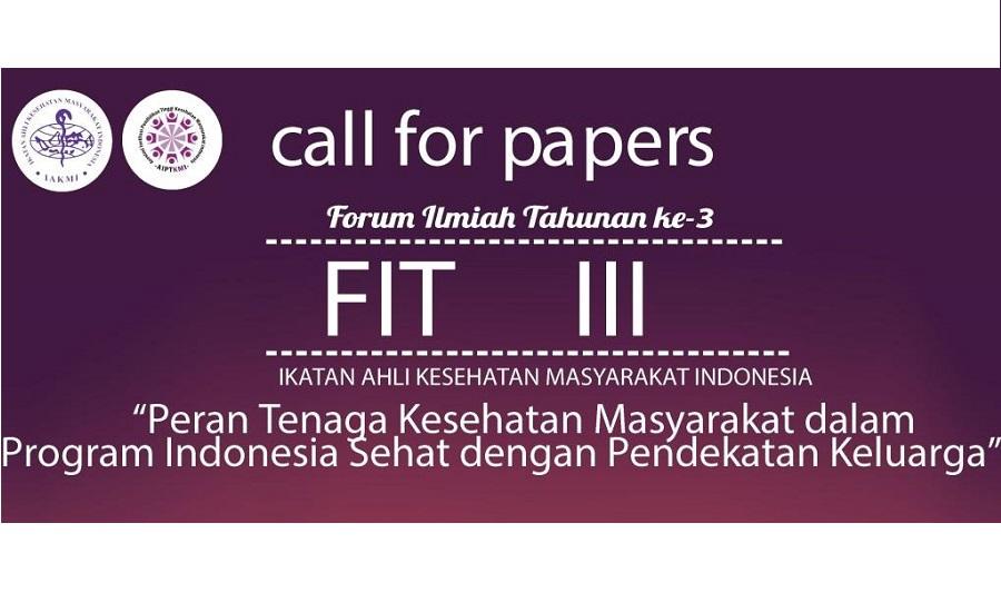 Pendaftaran Call of Paper Forum Ilmiah Tahunan IAKMI Diperpanjang