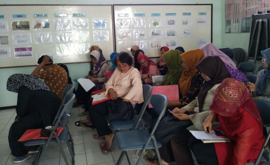 Refreshing Kader PMO Tb Paru di Aula Puskesmas Cimahi Utara.