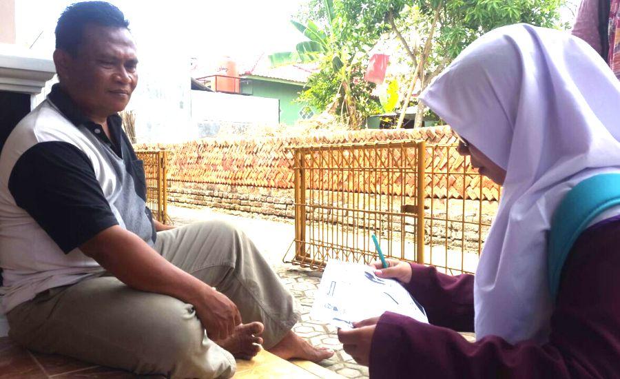 Sampai dengan hari ke-2 setelah diterapi beliau masih merasakan sugesti positif untuk tetap komitmen berhenti merokok, ujar salah satu warga desa-1