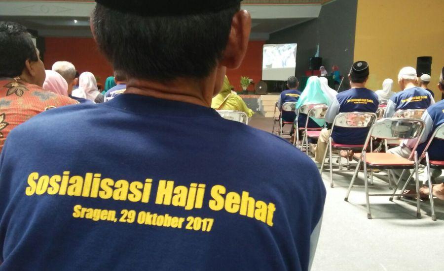 Menuju Istitha'ah Kesehatan, Pemkab Sragen Adakan Sosialisasi Haji Sehat di GOR Diponegoro