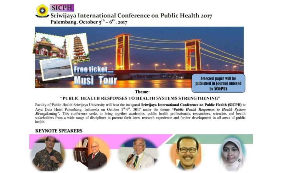 Poster SRIWIJAYA INTERNATIONAL CONFERENCE ON PUBLIC HEALTH 2017 - Cover
