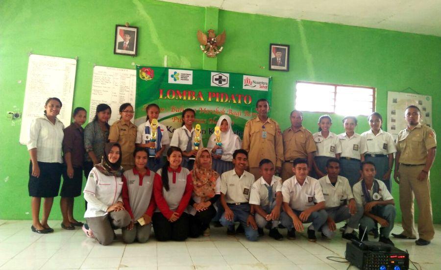 Sosialisasikan Bahaya Merokok Bagi Pelajar, Tim Nusantara Sehat Puskesmas Haliwen Gelar Lomba Pidato