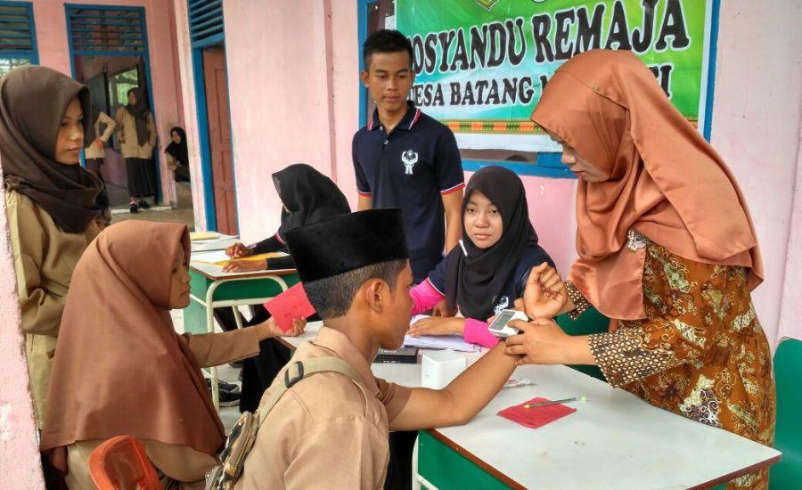 UPT Puskesmas Pulau Merbau Laksanakan Kegiatan Posyandu Remaja