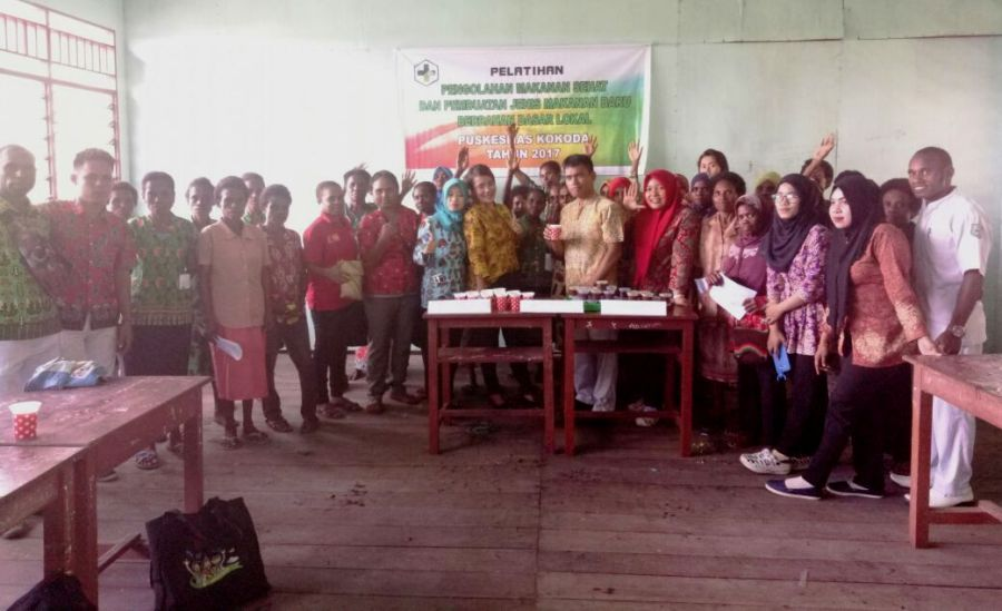 peserta pelatihan pengolahan makanan sehat