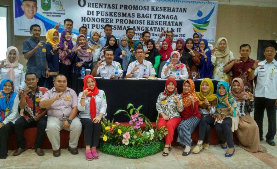 60 Tenaga Honorer Promkes Puskesmas se Riau, Ikuti Orientasi di Pekanbaru