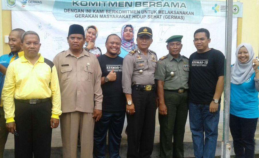 Muspika Kecamatan Krangkeng bersama Kadinkes Indramayu