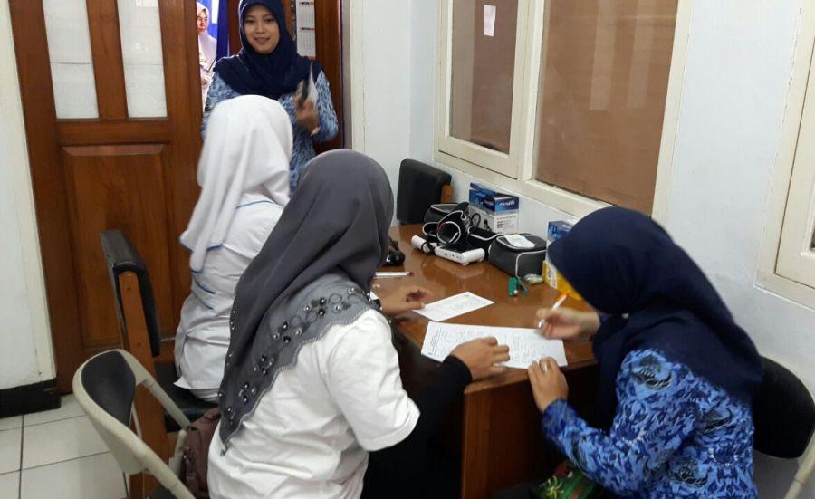 Pemeriksaan IVA Test di Kab garut