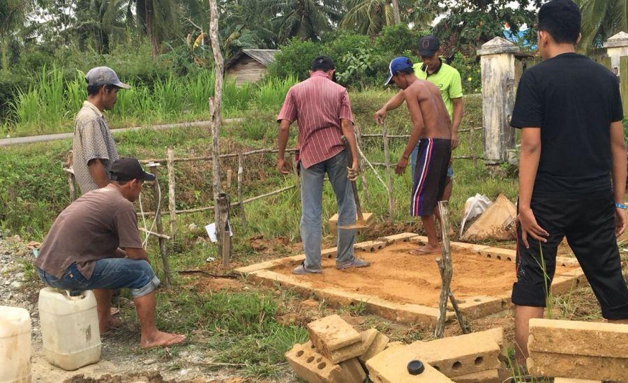 Ini Cara Mahasiswa Kesmas Univ Lambung Mangkurat Cegah Warga Desa Ambawang Terus Bakar Sampah