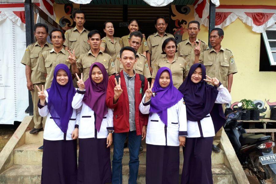 PBL Mahasiswa Prodi Kesmas unmuh Pontianak di Desa Tebang Benua