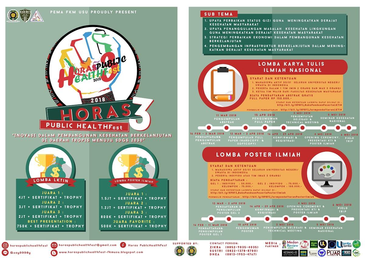 Yuk Ikutan Serunya HORAS PUBLIC HEALTH Fest 3 FKM USU!