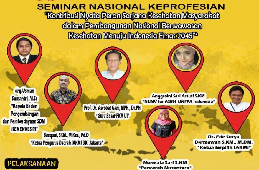 Kontribusi Nyata Peran SKM Dalam Pembangunan Nasional Berwawasan Kesehatan Menuju Indonesia Emas 2045 - Cover