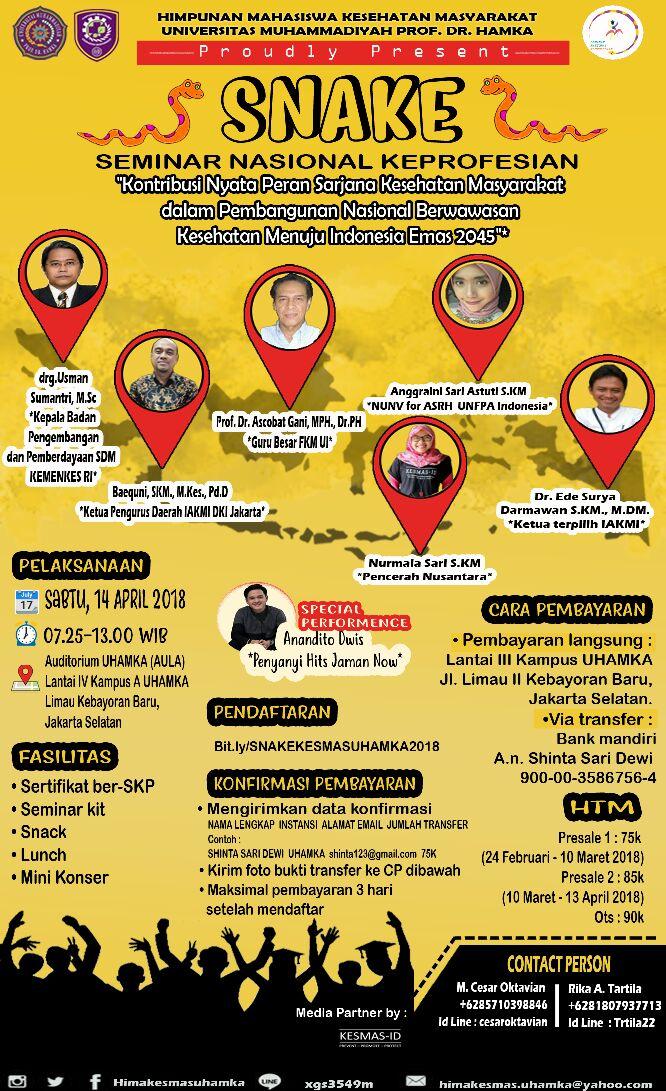 Kontribusi Nyata Peran SKM Dalam Pembangunan Nasional Berwawasan Kesehatan Menuju Indonesia Emas 2045