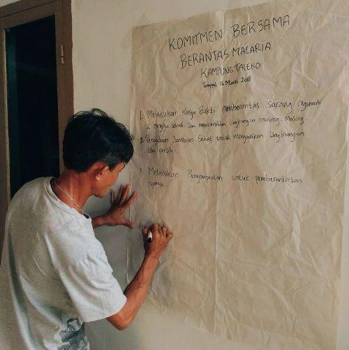 Komitmen Bersama Berantas Malaria Kampung Taleko