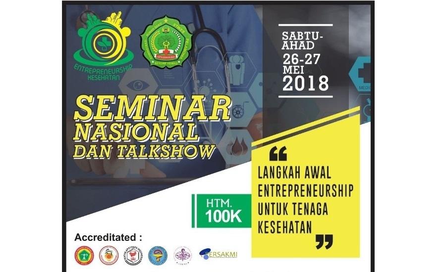 Seminar Nasional & Talkshow, Langkah Awal Entrepreneurship Untuk Tenaga Kesehatan - Cover