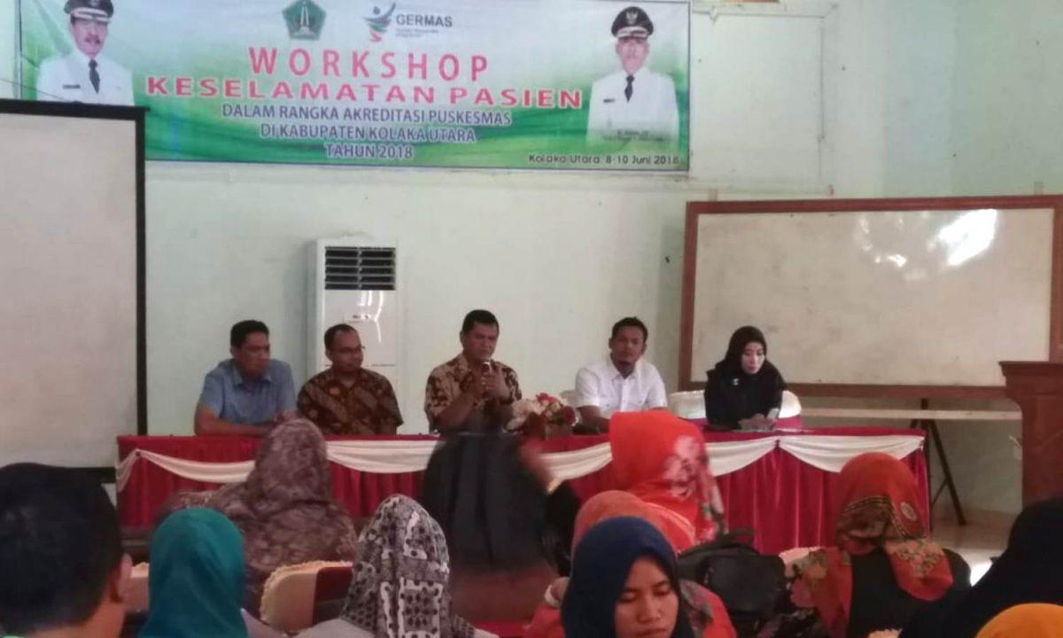 Workshop keselamatan pasien dalam rangka Akreditasi Puskesmas