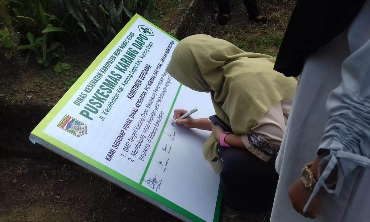 Puskesmas Karang Dapo Launching Posyandu Remaja