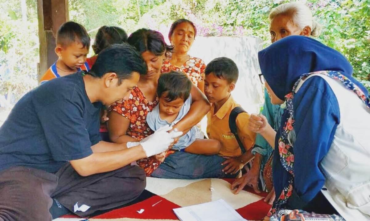Pelayanan Kesehatan Relawan Lombok