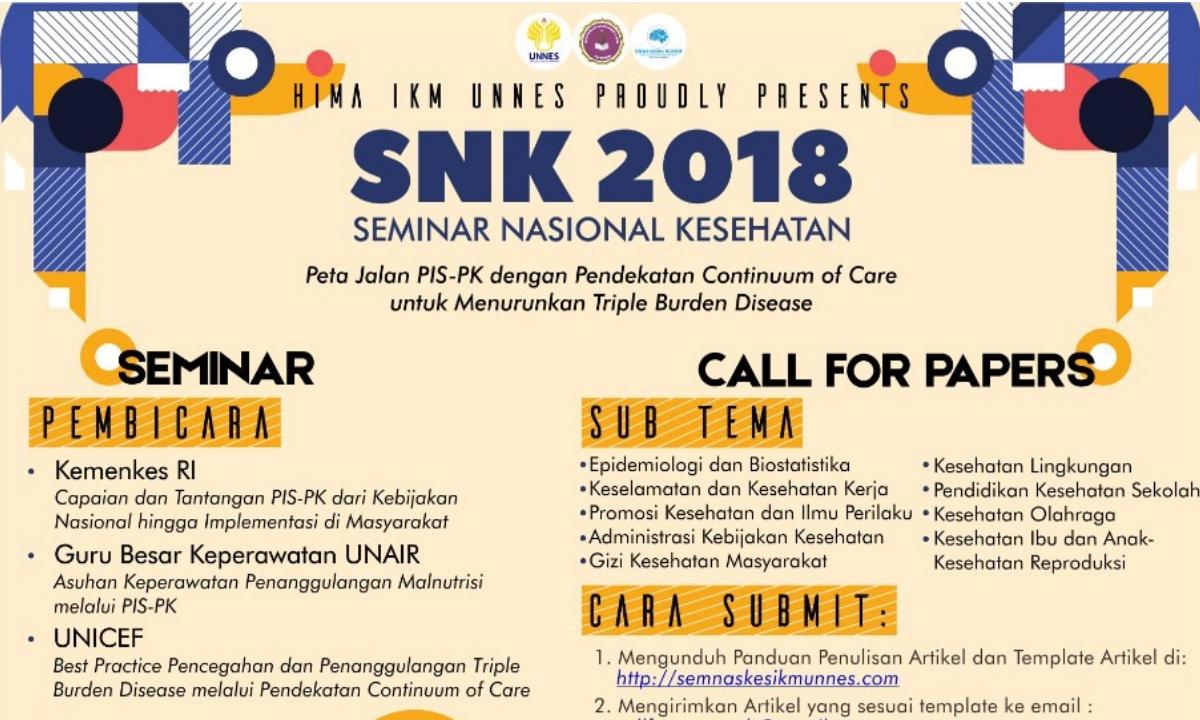 Cover Seminar Nasional HIMA IKM UNNES Peta Jalan PIS PK