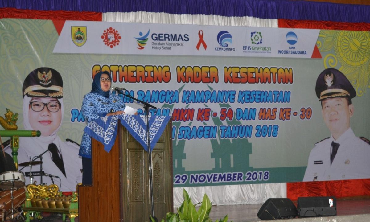 Bupati Sragen dr. Hj. Kusdinar Untung Yuni Sukowati