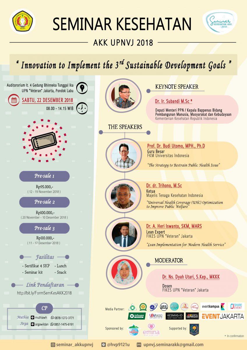Seminar Kesehatan FIKes UPN Veteran Jakarta Desember 2018