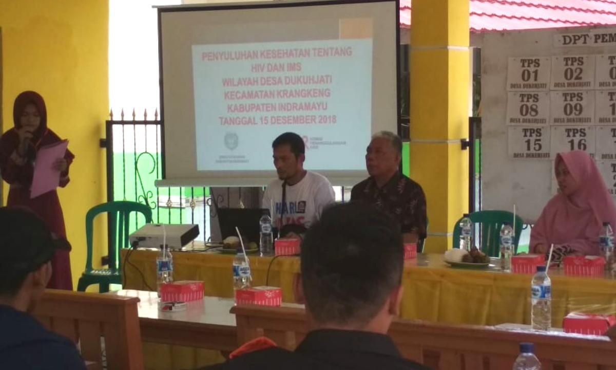 Penyuluhan Kesehatan HIV AIDS di Dukuhjati Kec Krangkeng