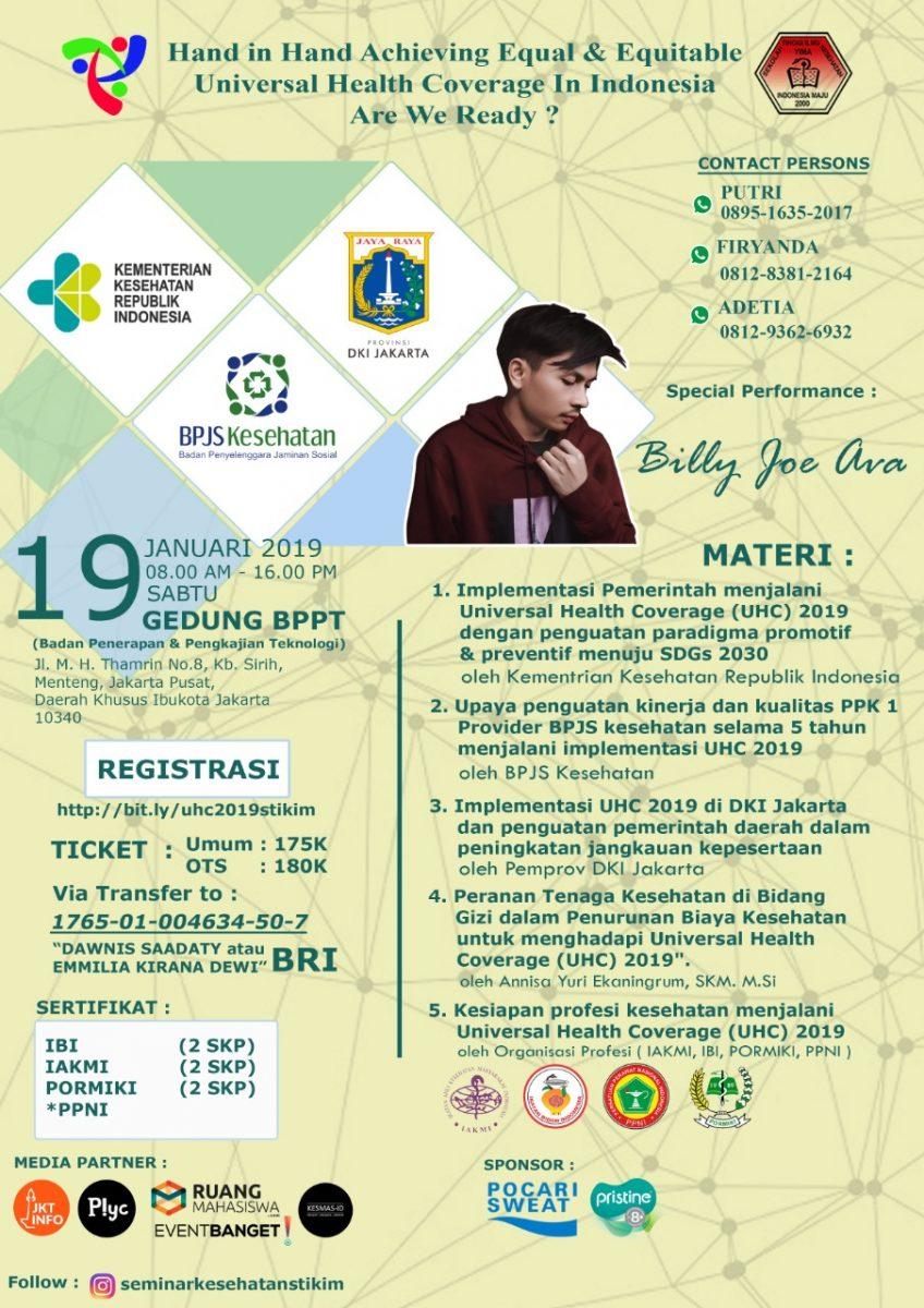 Seminar Kesehatan Nasional2019 Prodi Kesmas STIKIM Jakarta