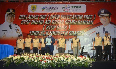 Kabupaten Sragen Deklarasikan Open Defecation Fee (ODF) di Malam Tahun Baru