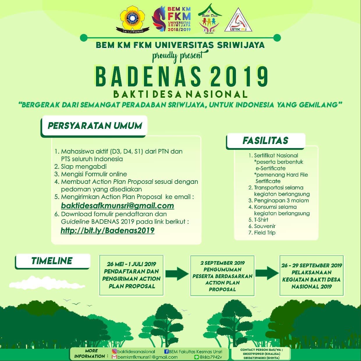 Bakti Desa Nasional 2019 FKM Univ Sriwijaya, Yuk Ikutan!