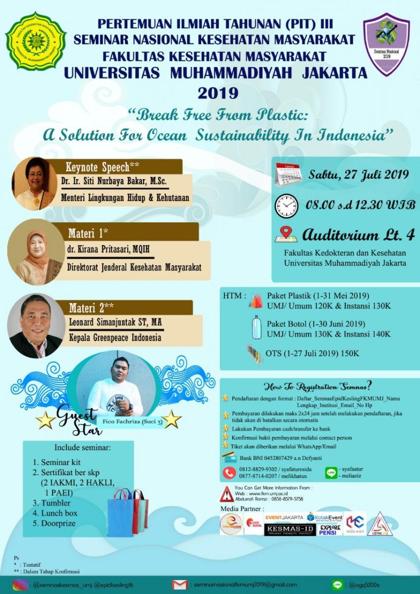 Seminar Nasional Kesehatan Masyarakat 2019 FKM UMJ, Yuk Ikutan!