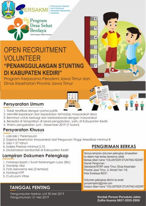 Volunteer Sahabat Desa Untuk Penanggulangan Stunting, Yuk Ikutan!