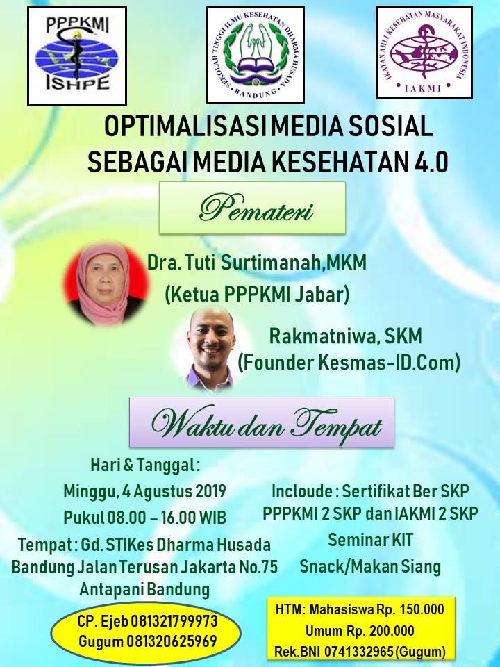 Optimalisasi Media Sosial Sebagai media Kesehatan 4.0