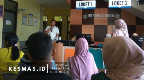 Promkes Puskesmas Krangkeng Edukasi Pengunjung Tentang Kesehatan Lansia