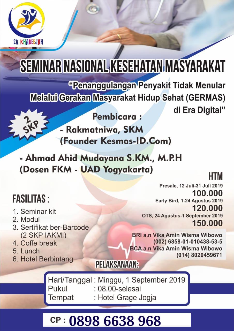Seminar Nasional, Kesmas September 2019