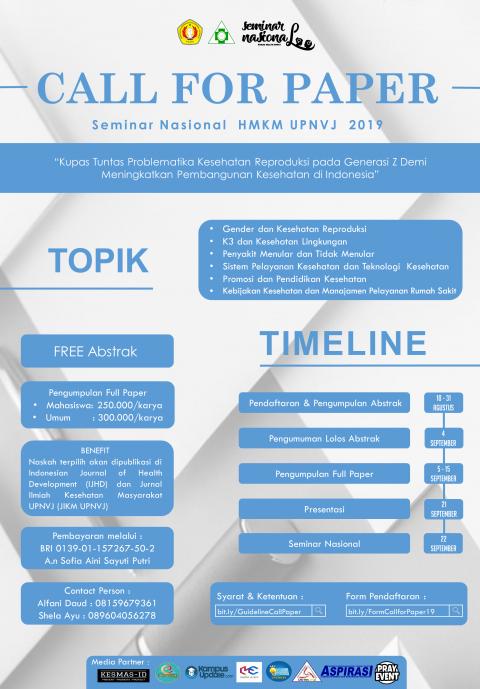 Call for Paper Seminar Nasional HMKM UPNVJ, Yuk Segera Daftar!