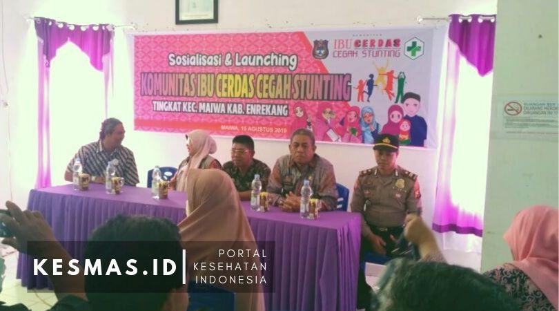 Launching Komunitas Ibu Cerdas Cegah Stunting Puskesmas Maiwa