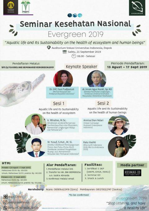 Seminar Kesehatan Nasional, Evergreen 2019, Yuk Ikutan!