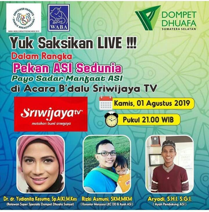 Sriwijaya TV, Pekan ASI Sedunia 2019