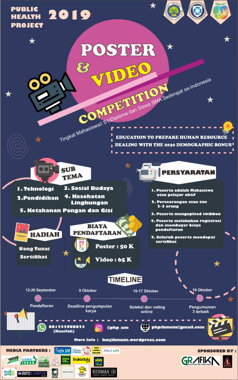 Lomba poster Video Tingkat Nasional Public Health Project 2019 1