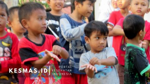 Puskesmas Mamburungan Ajak Anak - Anak di Tarakan Ini Cuci Tangan Pakai Sabun