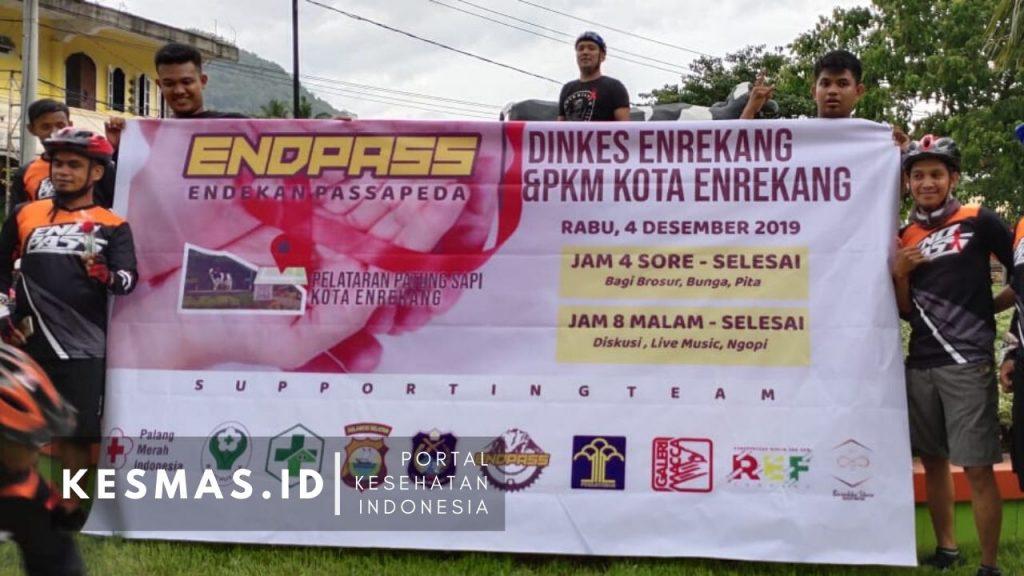 Endpass bersama Dinkes Enrekang dan Puskesmas Kora Peringati HAS 2019