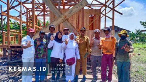 Manfaatkan Dana Desa, Puskesmas Kalitami Bangun 3 Posyandu