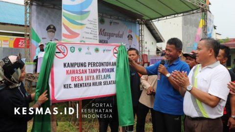 RT 6 Desa Jaya Kelapa Ini Dicanangkan Jadi Percontohan Kampung Tanpa Rokok