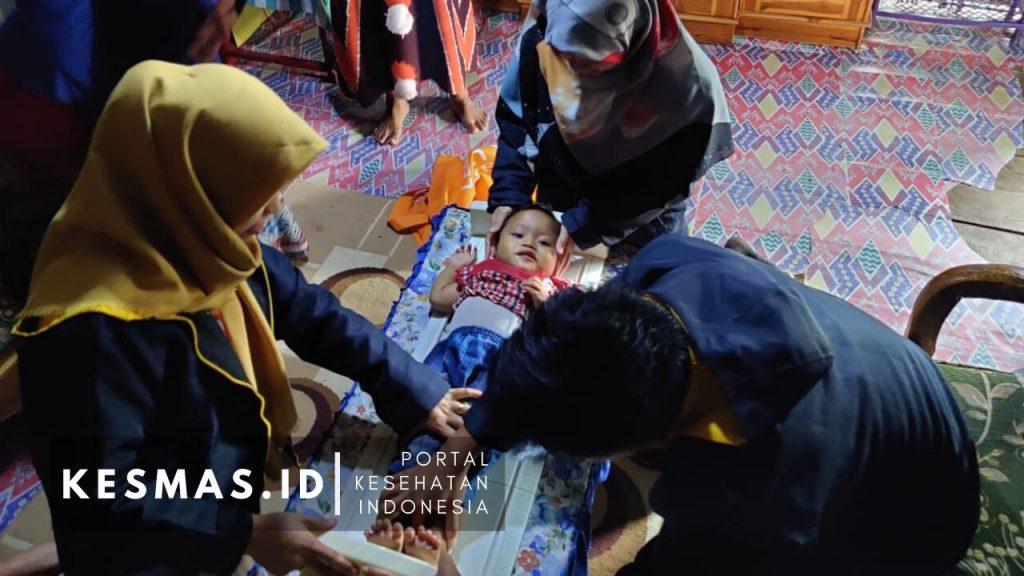 Tikung, Timbangan Berkunjung Bayi Balita Puskesmas Lantung