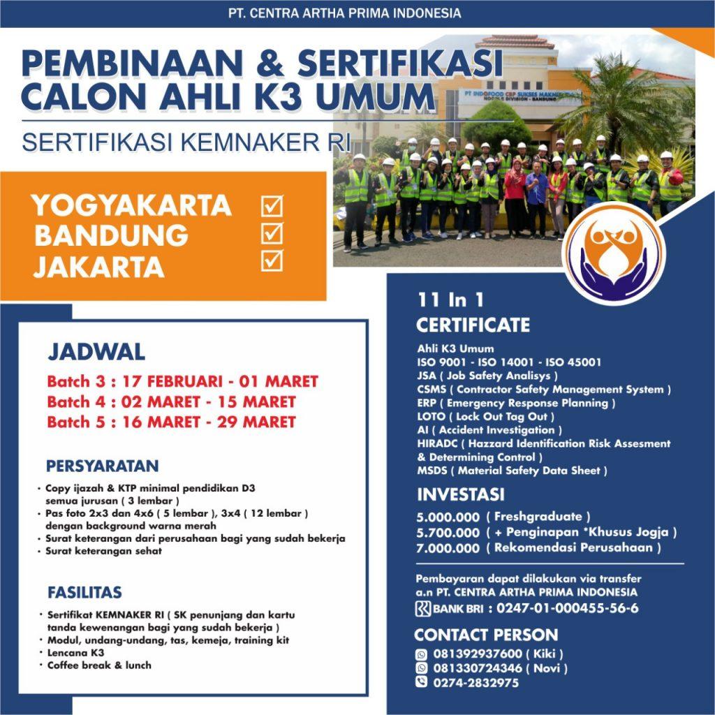 pembinaan sertifikasi calon ahli k3 umum
